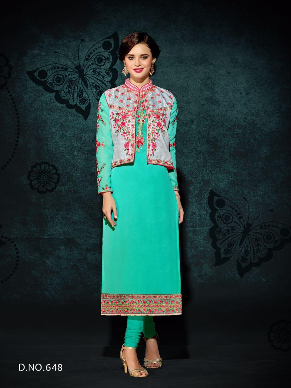 Buy Rani Trendz Engage Party Wear Kurti Catalogue With Jacket 8