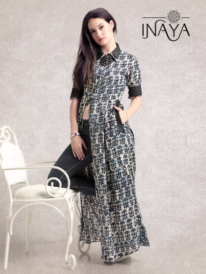 Buy Studio Libas Inaya Maxi Shirt K-16 Kurti Gowns Western Wear ...