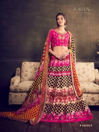 Pink Black Color Banarasi Silk Designer Lehenga