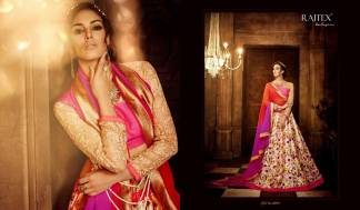 Pink Cream Color Banarasi Silk Designer Lehenga