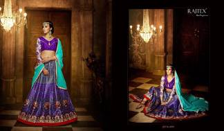 Purple Red Color Banarasi Silk Designer Lehenga