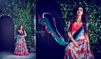 White Pink Color Banarasi Silk Designer Lehenga