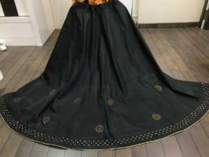 Black Color Two Tone Tafeta Silk Party Wear Lehenga