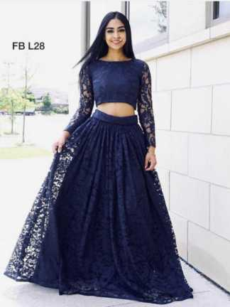 Blue Color Heavy Rassel Net Party Wear Lehenga