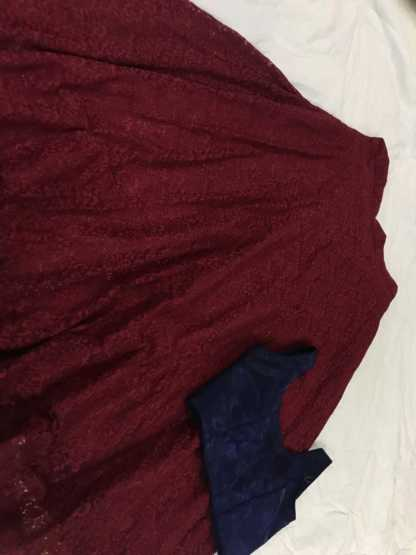 Maroon Color Heavy Rassel Net Party Wear Lehenga1