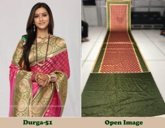 Pink And Green Color Satin Gota Zari Designer Saree