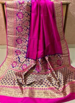Pink Color Banarasi Silk Party Wear Designer Saree
