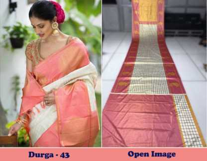Pitch Color Satin Gota Zari Designer Saree