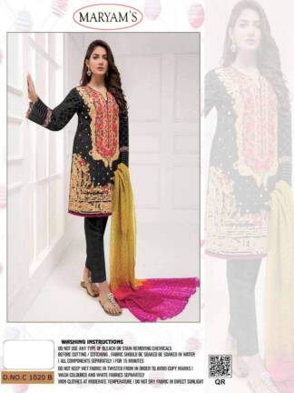 Black Color Heavy Organza Embroidery Work Partywear Pakistani Suit