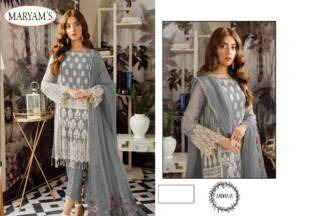 Grey Color Georgettte Embroidery Work Partywear Pakistani Suit