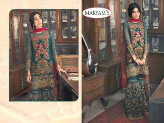 Pine Color Georgettte Embroidery Work Partywear Pakistani Suit