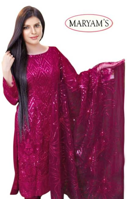 Pink Color Georgettte Embroidery Work Partywear Pakistani Suit