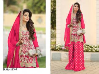 Rani Color Super Net Embroidery Work Partywear Pakistani Suit