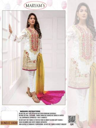 White Color Heavy Organza Embroidery Work Partywear Pakistani Suit
