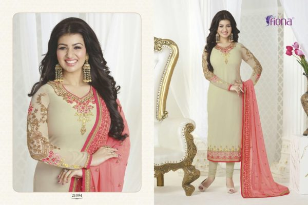 Aayesha Takia Georgette Beige Color Salwar Suit (Design 21094)