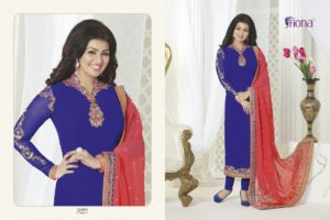Aayesha Takia Georgette Blue Color Salwar Suit (Design 21095)
