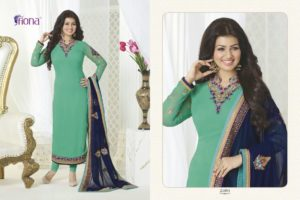 Aayesha Takia Georgette Green Color Salwar Suit (Design 21093)