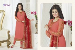 Aayesha Takia Georgette Peach Color Salwar Suit (Design 21096)