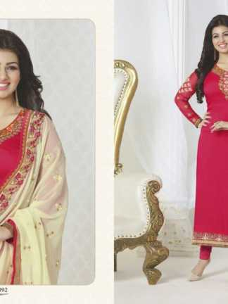 Aayesha Takia Georgette Red Color Salwar Suit (Design 21092)