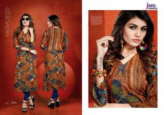 Cotton Rayon Print Multicolor Casual Wear Kurti (Design 5004)