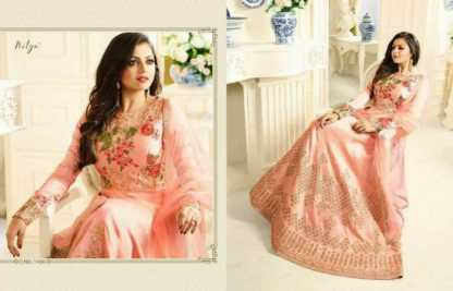 Embroidered Australian Silk Light Pink Color Party Wear Suit