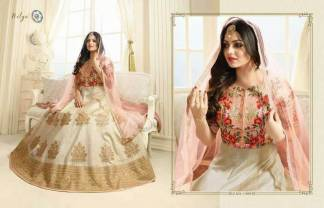 Embroidered Mulborne Silk Cream Color Party Wear Suit