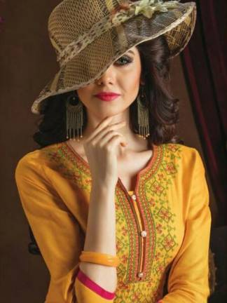 Kaya Orange Vol-5 Kurti Design Catalogue Wholesale (10 Designs) (10)