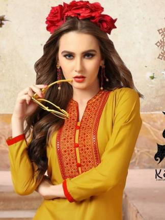 Kaya Zara Vol-3 Kurti Design Catalogue Wholesale (9 Designs) (11)