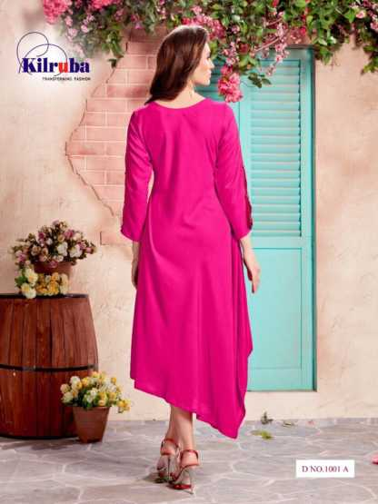 Kilruba Kurti Gown Catalogue (4 Designs) with Latkan and Necklace (1)