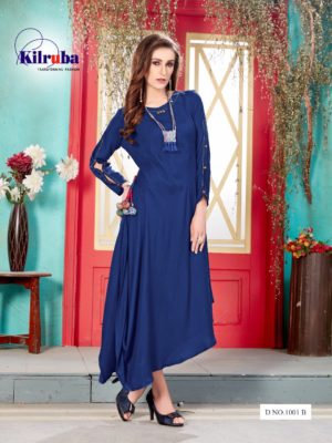 Kilruba Kurti Gown Catalogue (4 Designs) with Latkan and Necklace (3)
