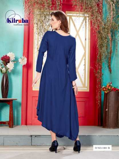 Kilruba Kurti Gown Catalogue (4 Designs) with Latkan and Necklace (4)