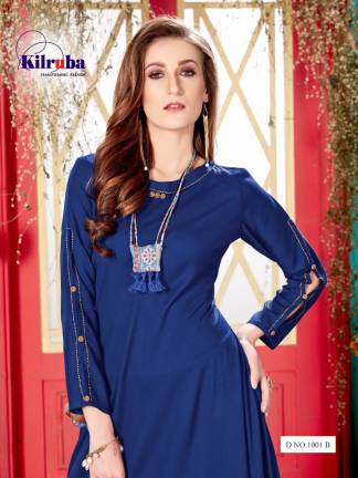 Kilruba Kurti Gown Catalogue (4 Designs) with Latkan and Necklace (5)