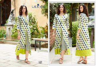 Cambric Print Multicolor Fancy Stylish Kurti (Design 1009)