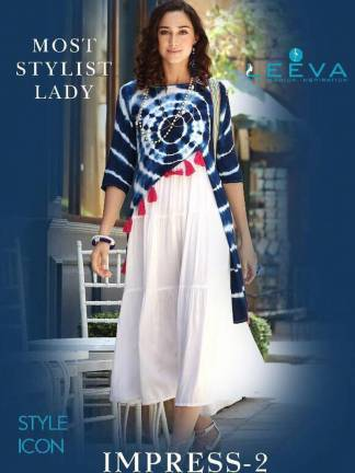 Leeva Impress Vol-2 Kurti Design Catalogue Wholesale (9 Designs)