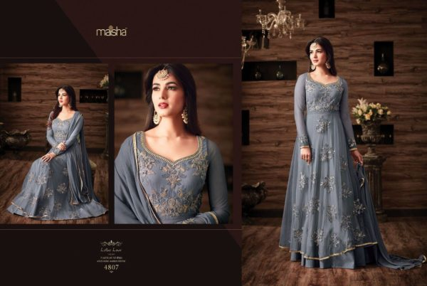 Maisha Maskeen 4807 Net Embroidered Wedding Wear Suit (1)