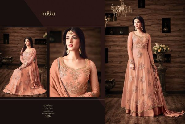Maisha Maskeen 4807 Net Embroidered Wedding Wear Suit (2)