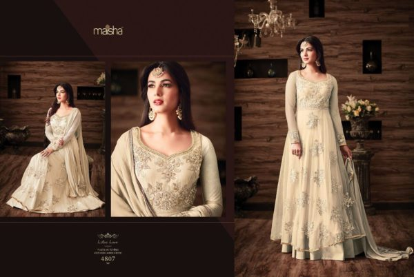 Maisha Maskeen 4807 Net Embroidered Wedding Wear Suit (3)