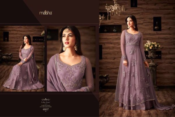 Maisha Maskeen 4807 Net Embroidered Wedding Wear Suit (4)