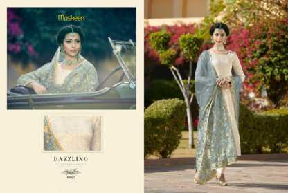 Maisha Maskeen Sultana Cream Color Georgette Party Wear Salwar Suit