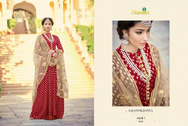Maisha Maskeen Sultana Red Color Georgette Party Wear Salwar Suit