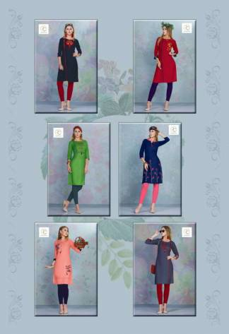Pushp Creation Dhadak Kurti Catalogue Wholesale