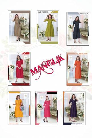 Pushp Creation Manglik-3 Kurti Catalogue Wholesale
