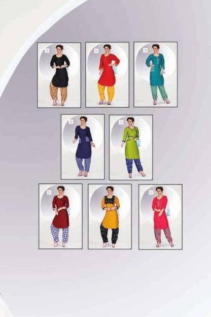 Pushp Creation Patiyala Print Kurti Catalogue Wholesale