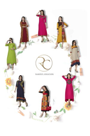 Pushp Creation Riya Kurti Catalogue Wholesale