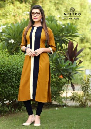 Rayon Print Multicolor Fancy Stylish Kurti-Design 1038