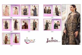 Rinaz Fashion Jazmin Vol 3 Salwar Suit Catalogue Wholesale