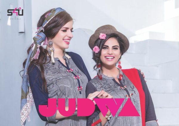 S4U Judwa Rayon Fabric Multicolor Traditional Kurti Catalogue Wholesale Surat (10)
