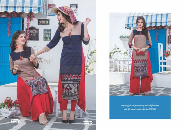 S4U Judwa Rayon Fabric Multicolor Traditional Kurti Catalogue Wholesale Surat (12)