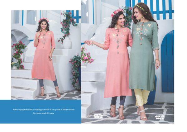 S4U Judwa Rayon Fabric Multicolor Traditional Kurti Catalogue Wholesale Surat (14)