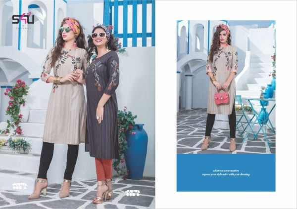 S4U Judwa Rayon Fabric Multicolor Traditional Kurti Catalogue Wholesale Surat (18)